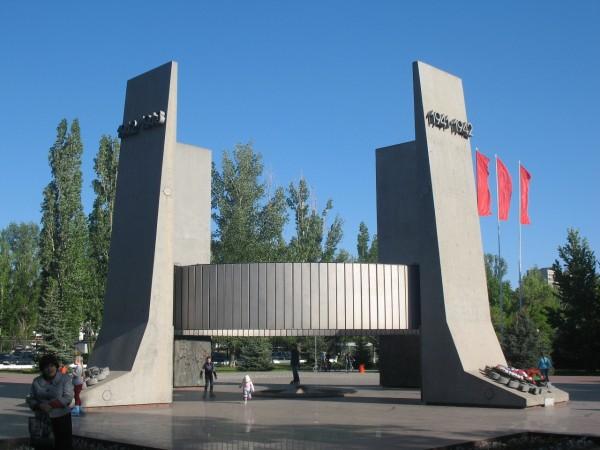 Монумент в чест ь40-летия победы в Парке Победы
