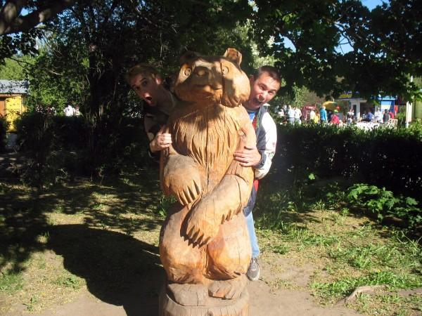 Детский парк в Тольятти. Медведь