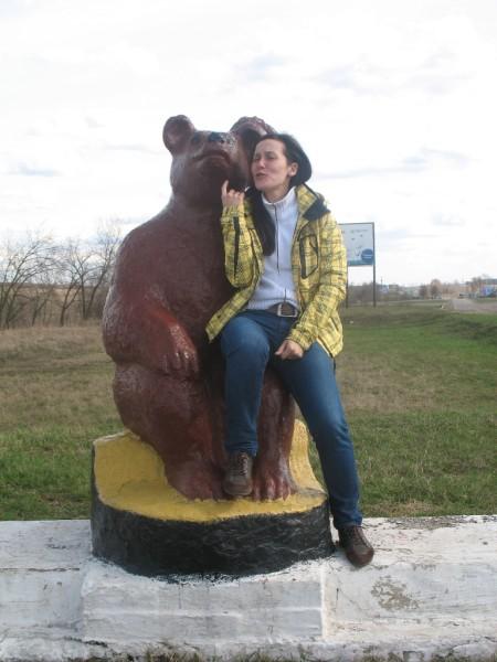 Юля и медведь