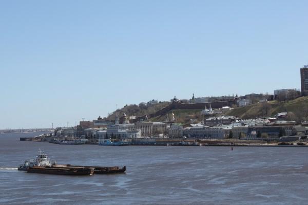 Вид на правый берег Оки с Канавинского моста