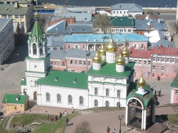 Храм Иоана Предтечи. Вид со стен кремля