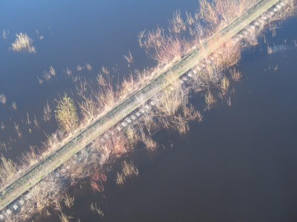 Вид из кабинки. Железная дорога