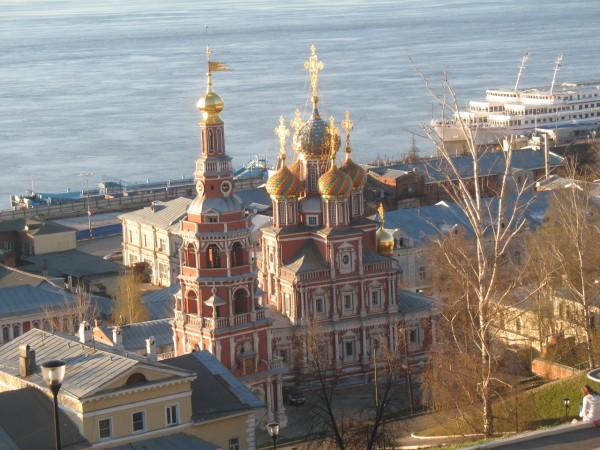 Строгановская церковь с Федоровской набережной