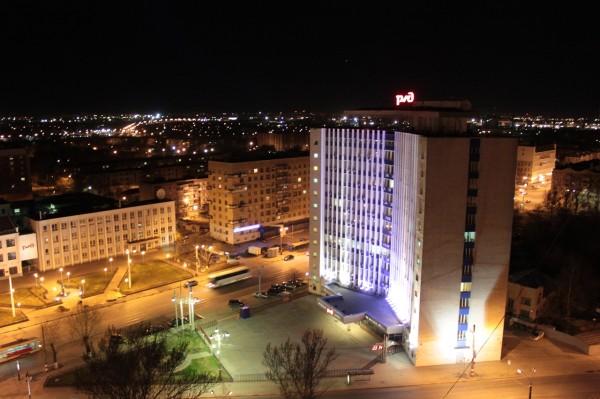 Вид на ночной Нижний Новгород
