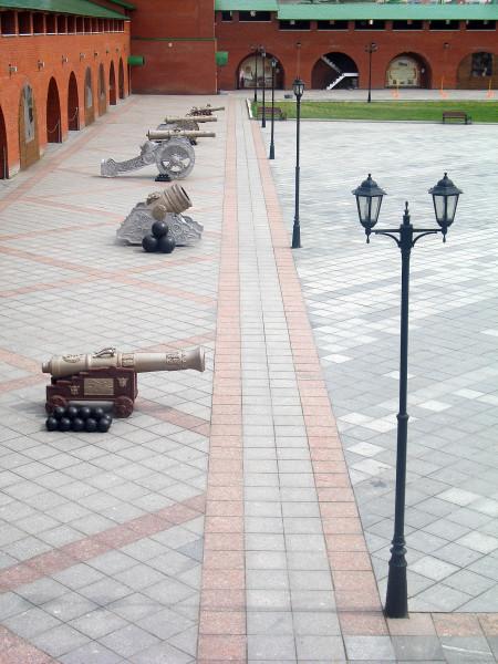 Пушки в Кремле Йошкар-Ола