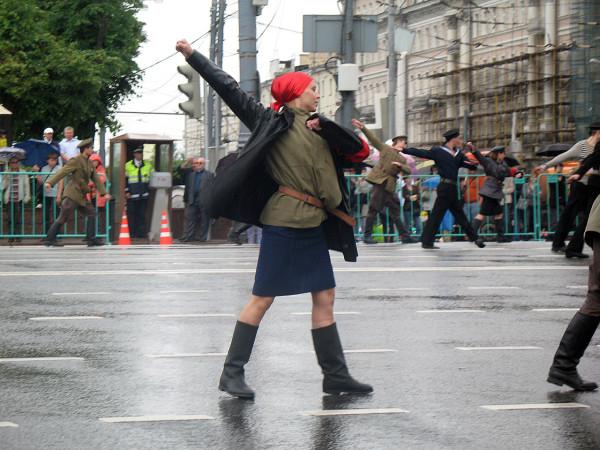 Октябрьская революция на параде округов