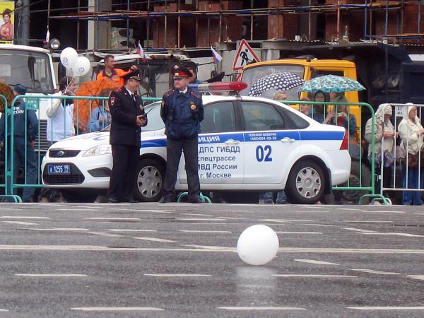 Конец парада округов в Москве