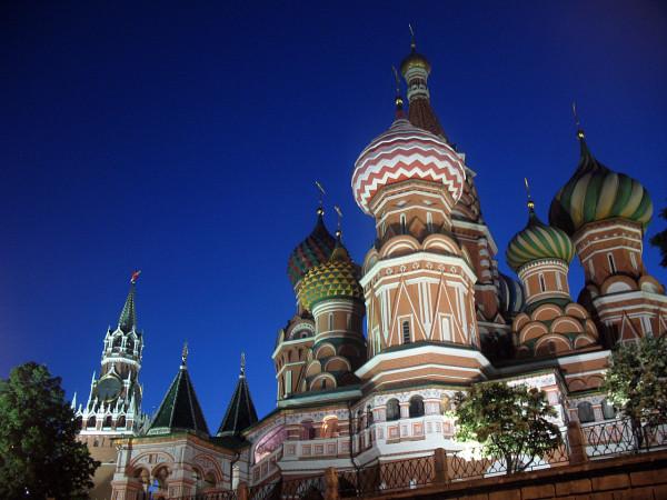 Храм Василия Блаженного на Красной площади ночью