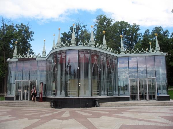 Входной павильон в выставочный корпус в Царицыно