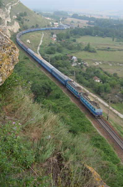 Железная дорога Севастополь-Симферополь в Инкермане