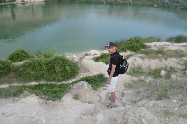 Пресное озеро в Инкерманском карьере