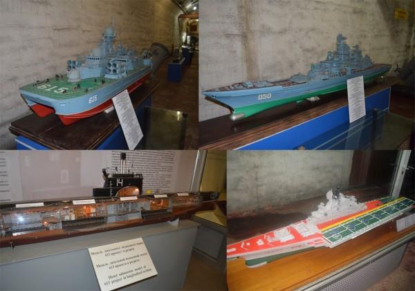 Военные корабли времен холодной войны в музеи подводных лодок в Балаклаве