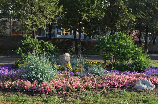 Цветы на Проспекте Гагарина в Оренбурге