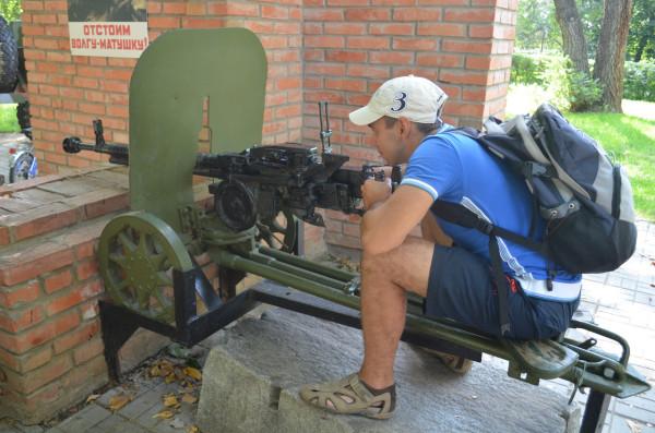 Пулемет в парке Салют Победы