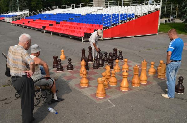 Шахматы на площади Ленина в Ульяновске
