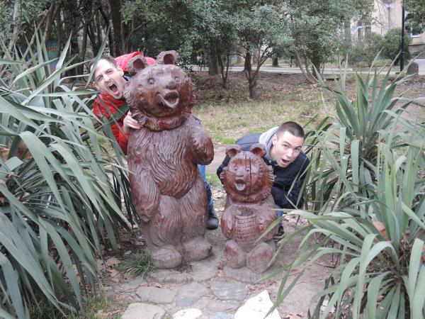 Медведи в парке Ривьера в Сочи