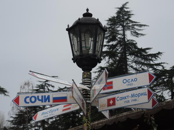 Указатели в парке Ривьера