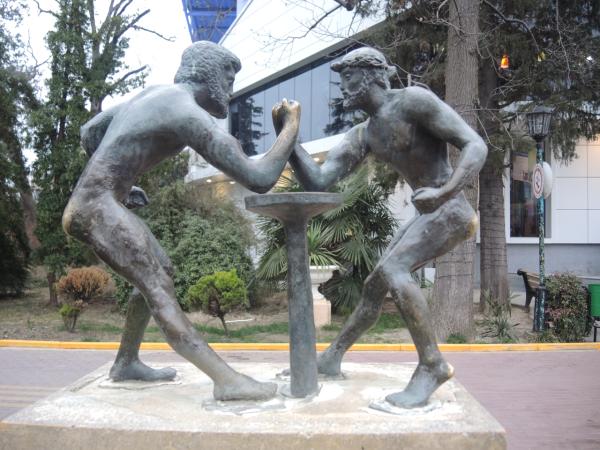 """Скульптура """"Олимпиада"""" в парке Ривьера"""