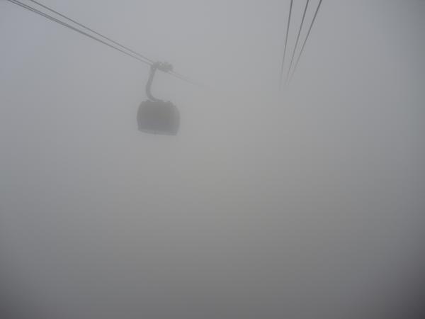 Канатная дорога на Красной Поляне. Туман