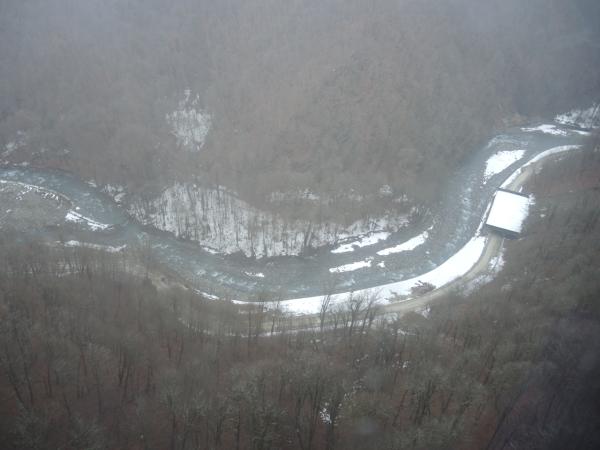 Река Мзымта в сочинских горах