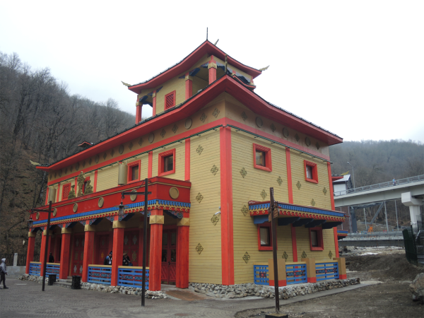 Бурятский домик в национальной деревни в Сочи