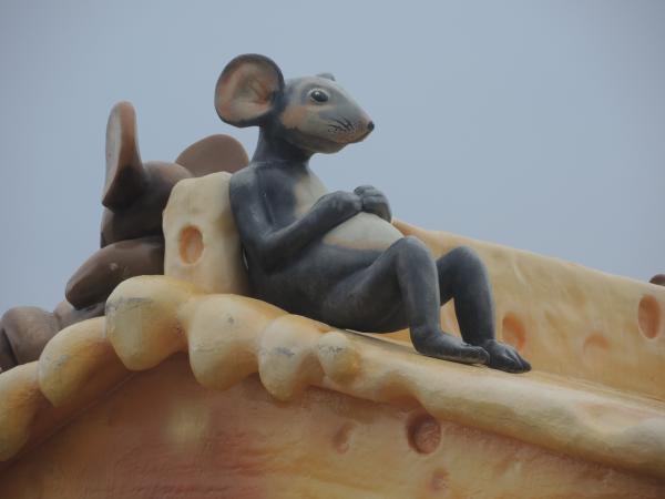 Сырный киоск с крысой в Сочи-парке