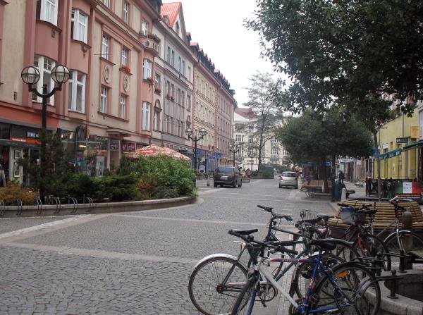 Чистые и уютные улица Градец Кралове