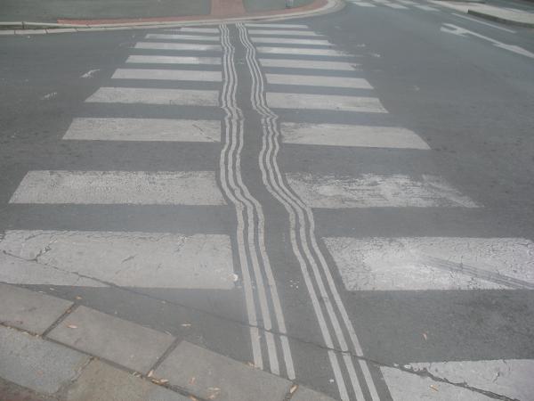 Пешеходный переход в Чехии