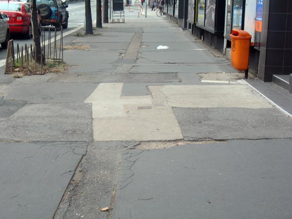 Тротуары в Чехии
