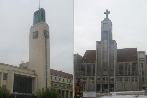ЖД вокзал и Церковь Божественного Сердца Иисуса