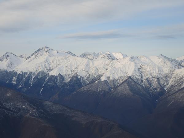 Сочинские горы на Красной Поляне