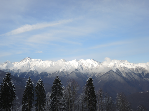 Горы на Горной Карусели в Сочи