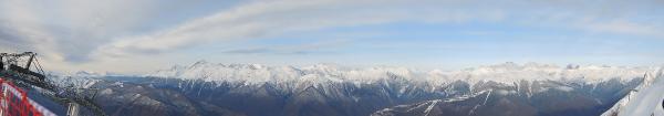 Вид на сочинские горы с Горной карусели