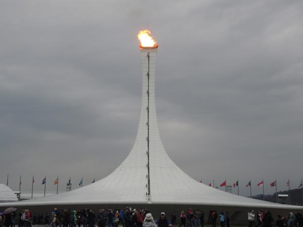 Олимпийский факел в Олимпийском парке