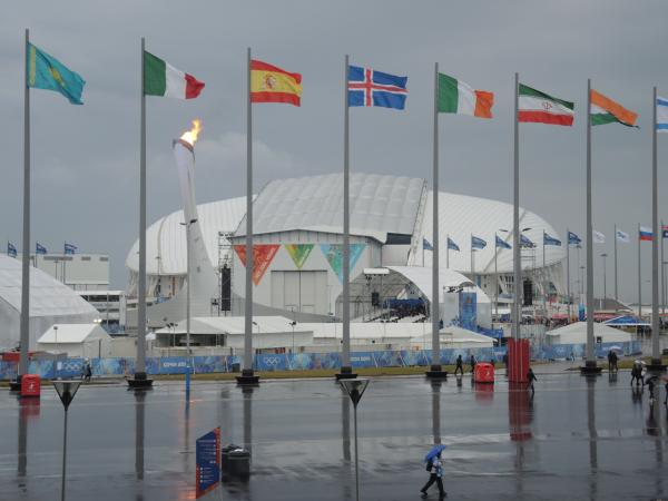 Стадион Фишт в Олимпийском парке в Сочи-2014