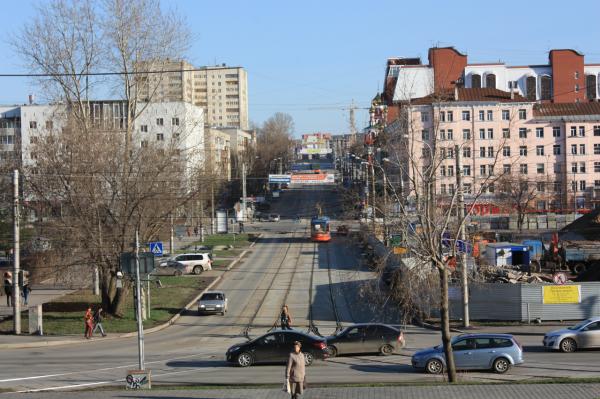 Пустые и просторные улицы Перми без пробок