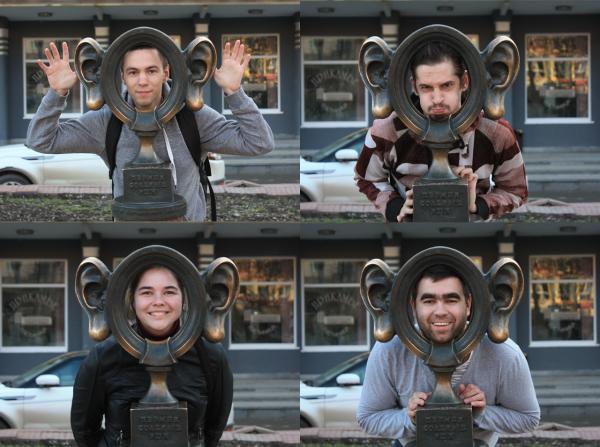 Памятник пермяк - соленые уши в Перми