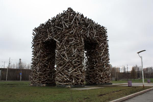 Памятник букве П в Перми