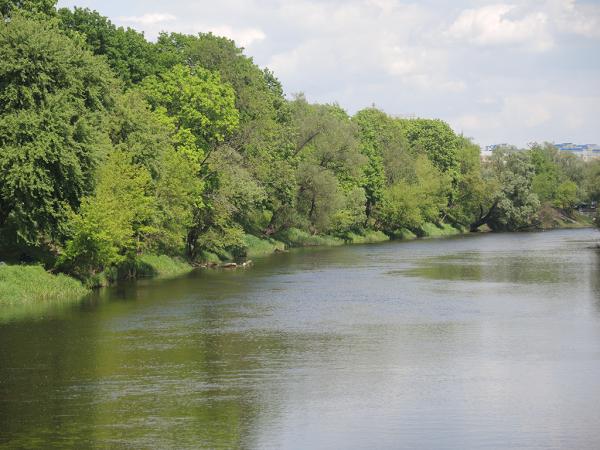 Река Муховец около Брестской крепости