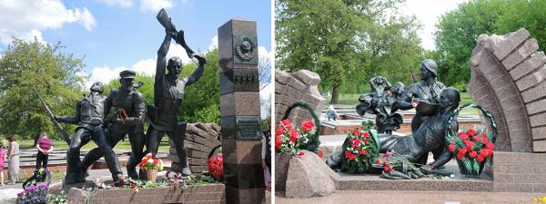 Памятник пограничникам и их семьям в Брестское крепости
