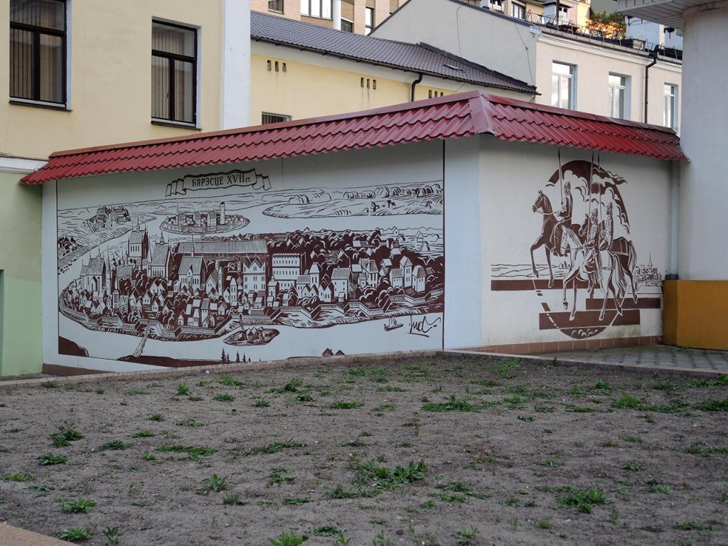 18. Настенные рисунки на улице Совтской в Бресте