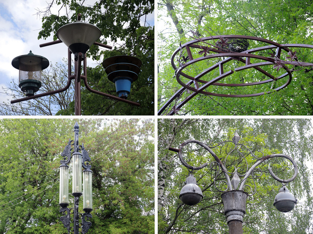 Сквер старинных фонарей рядом с  Брестгорсветом