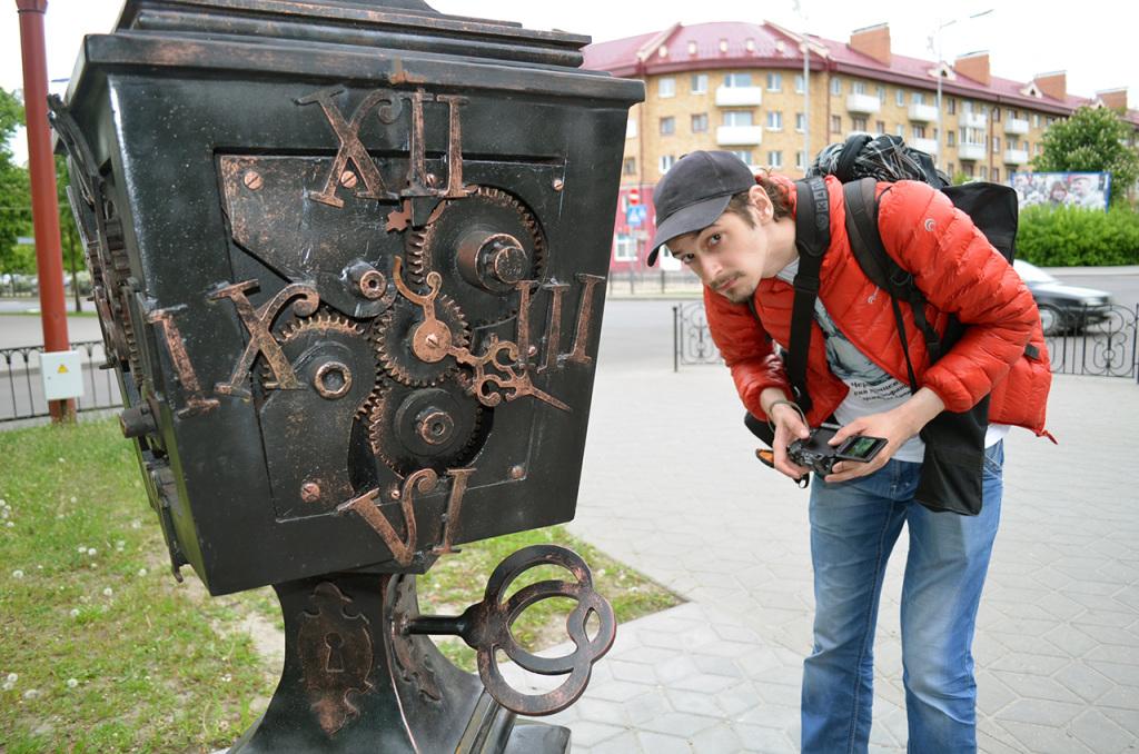 Аллея старинных фонарей на улице Гоголя в Бресте